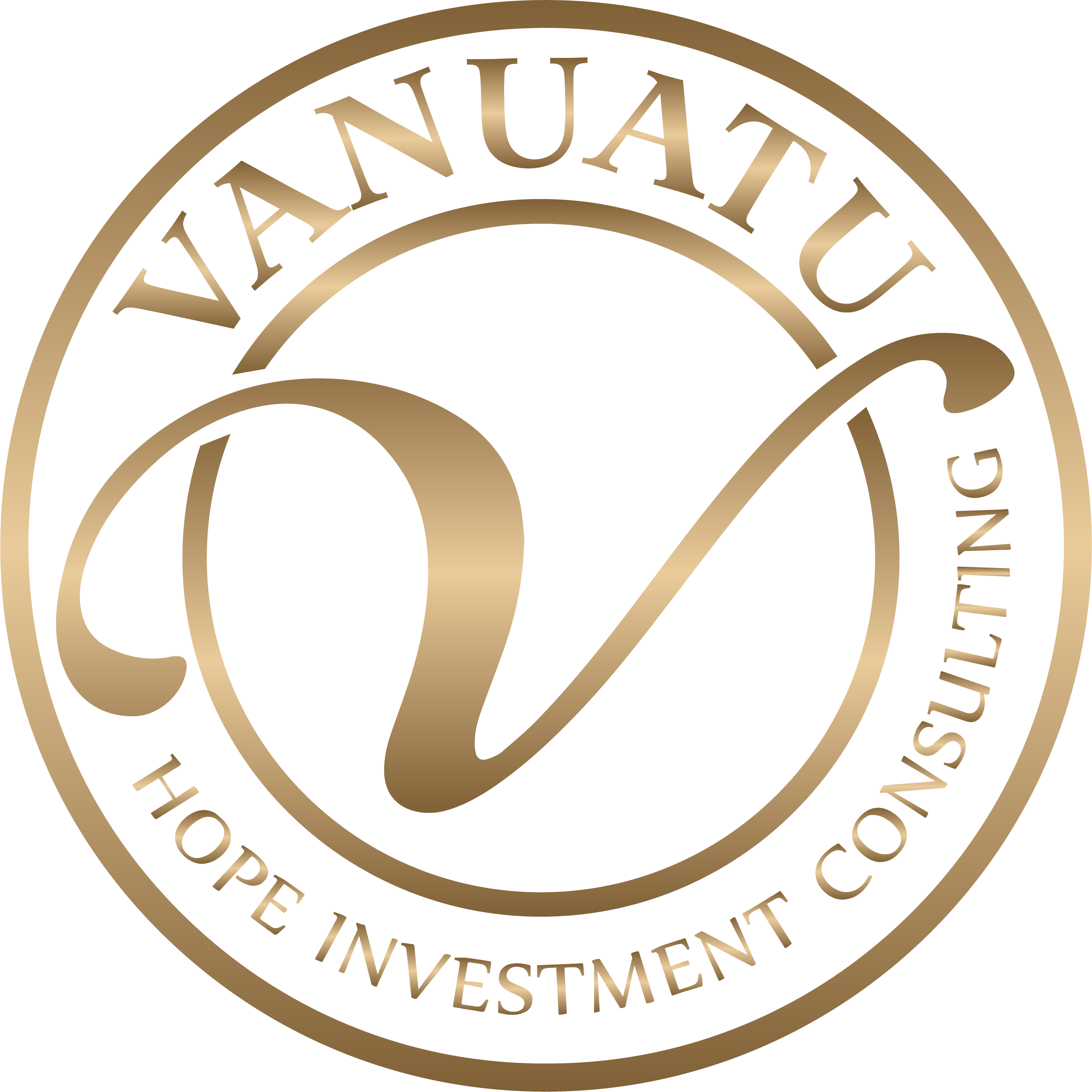 Gold logo of Vanuatu Hope Investments Consulting company